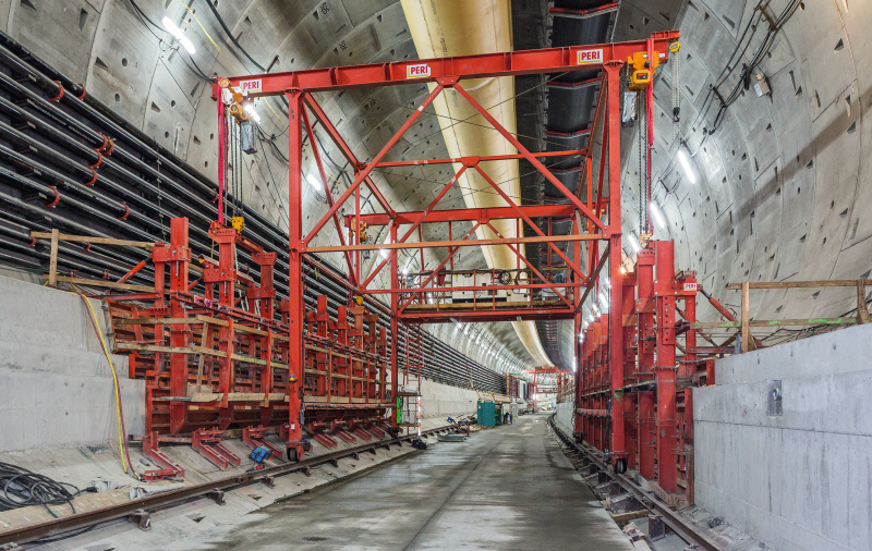 State Route 99 Tunnel: Formwork Solution for Double-Deck