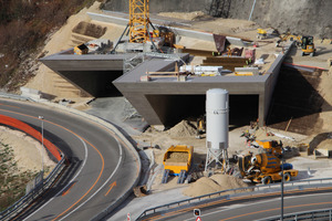 """<div class=""""bildtext_en"""">The concrete construction at the north and south portals of the Tunnel de Choindez, the last major tunnel project on the Swiss Autobahn 16 """"Transjurane"""", were primed and coated with waterproofing systems from Silikal. This will protect the lower part of the walls against penetrating damp and weather effects</div>"""