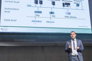 "<div class=""bildtext_en""><span class=""bildunterschrift_hervorgehoben"">3</span>Dr. Christian Thienert dealt with the latest recognitions from the ""Cyber Safe"" project at the COSUF Workshop</div>"