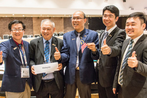 """<div class=""""bildtext_en""""><span class=""""bildunterschrift_hervorgehoben"""">19</span>The representatives of the Malaysian Tunnelling Committee are delighted that the 2020 WTC is being held in Kuala Lumpur </div>"""
