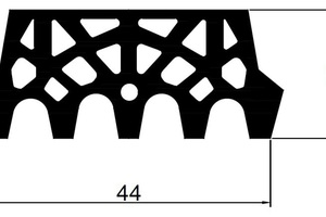 "<div class=""bildtext_en""><strong>1</strong>	The CTS 44/20 ""AVT"" profile for the Albvorland Tunnel</div>"