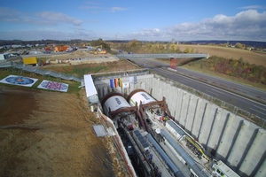 The two EPB tunnel boring machines Wanda and Sibylle (shield diameter: 10,82 m each) will need approximately 18 months for the excavation of the 8176 m long Albvorland Tunnel on the new Wendlingen–Ulm railway line