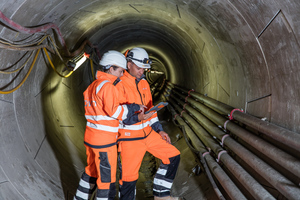 "<div class=""bildtext_en"">For contract BA 40 of the Emscher sewer project, VMT GmbH delivered the navigation technology and provided a system for a fire protection and rescue concept. The newly developed system solution SCoUT (Safety Coordination by Underground Tracking) for the tracking and recording of people, vehicles and mobile equipment below ground was used for the first time on a major construction site</div>"