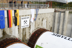 """<div class=""""bildtext_en""""><strong>2</strong>TBM start up ceremony at the Albvorland Tunnel on the new Wendlingen–Ulm line</div>"""