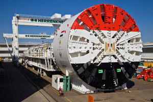 Four identical tunnel boring machines were supplied by Herrenknecht for construction of the two new road tunnels under the Suez Canal. The Mixshields created over 15 kilometers of new tunnel for the large-scale project