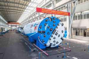 """<div class=""""bildtext_en"""">The 5.06 m diameter Double Shield TBM will bore a 12.2 km tunnel from the Bheri River to Babai River</div>"""