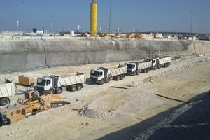 """<div class=""""bildtext_en"""">The site in Doha needs quite a quantity of material from Bochum</div>"""