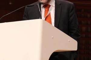 Johann Herdina (TIWAG) berichtete über die Herausforderungen beim Projekt Gemeinschafstkraftwerk Inn