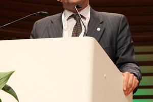 Dr. Raffaele Zurlo (BBT-SE) berichtete über den TBM-Einsatz unter wechselnden geologischen Verhältnissen beim Bau des Brenner Basistunnels