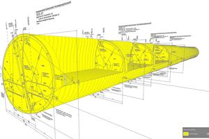 6Anbindungsbauwerk kombiniert 2D- und 3D-Modellierung