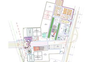 """<div class=""""bildtext""""><strong>5</strong>Grundriss der Baustelleneinrichtungsfläche auf 2 000 000 m<sup>2</sup></div>"""