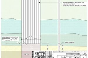 """<div class=""""bildtext_en"""">Diagram of safe haven, diaphragm wall block/box intended as maintenance bay prior to undertunnelling the Suez Canal (on the left: longitudinal </div><div class=""""bildtext_en"""">section, on the right: horizontal section)</div>"""