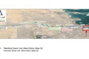 "<div class=""bildtext""><strong>1</strong>Überblick Green Line, Metro Doha, Katar [3]</div>"