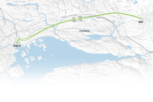 The two 20 km long tunnels connect Oslo with Ski further to the south. From 2021 they will shorten travel time for commuters by half