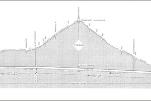 2Der 2652 m lange Tunnel weist in seiner Trassierung ein Dachprofil auf