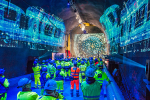 On September 11, the double breakthrough was viewed around the world via live stream. On site the tunnelling crews also waited for the two tunnel boring machines to break through
