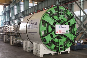 """<div class=""""bildtext"""">The Herrenknecht TBM has a shield diameter of 5250 mm and a drive power of 630 kW. In late 2017 the machine reached the target wall for the final breakthrough</div>"""