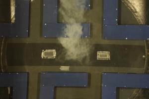 """<div class=""""bildtext_en"""">Verteilung der Rauchgasmassenströme aufgrund unterschiedlicher Drucksituationen – großstädtische Bebauung</div>"""