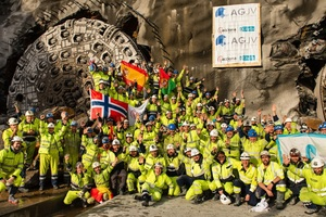"<div class=""bildtext"">On February 26, 2019, the site crew celebrated the final double breakthrough of the two TBMs ""Anna"" and ""Magda"" at the Follo Line in Norway. This successful completion of the project represents a milestone for tunnel boring machines in a country that has so far been relying primarily on conventional drill and blast tunnelling</div>"