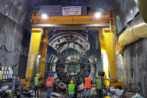 "<div class=""bildtext"">After an Onsite First Time Assembly (OFTA) underground, the Crossover TBM launched in summer 2016 to finish the last section of the Gerede water tunnel in an unusually challenging geology</div>"