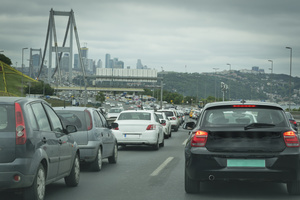 Typical congestion situation in Istanbul <br />