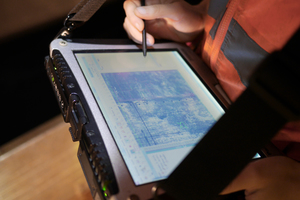 """<div class=""""bildtext_en"""">1Digital tunnel book for mapping during the inspection of the tunnel</div>"""