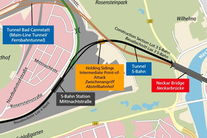 The Rosenstein Tunnel is part of the Stuttgart 21 project