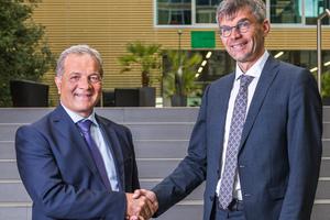 Seit dem 18. September führen sie die Geschäfte der BBT SE: Gilberto Cardola (links) auf italienischer Seite und Martin Gradnitzer für den österreichischen Projektteil<br />