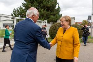 A very special day: on October 7, 2019, Martin Herrenknecht welcomed German Chancellor Angela Merkel to Herrenknecht AG in Schwanau <br />
