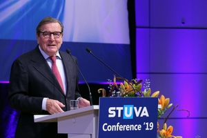 Former German Chancellor Gerhard Schröder gave the Opening Lecture at the STUVA Conference 2019<br />