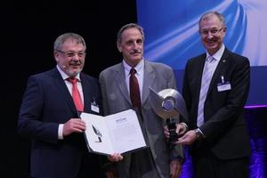 STUVA-Prize 2019 (from left to right): STUVA chairman Univ.-Prof. Dr.-Ing. Martin Ziegler, award winner Dipl.-Ing. ETH Felix Amberg and STUVA CEO Dr.-Ing. Roland Leucker