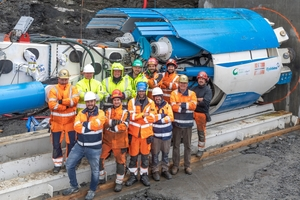 7	The Robbins and Norsk Grønnkraft crew celebrate the commissioning of the Salvasskardelva HEPP TBM in summer 2019