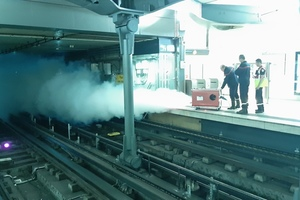 "<div class=""bildunterschrift_en"">Artificial filling of the Metro tunnel with smoke</div>"