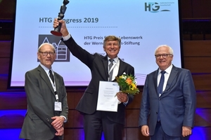 Award ceremony with Werner Möbius, Dr. Karl Morgen and Reinhard Klingen, Ministry Director of the German Federal Ministry of Transport and Digital Infrastructure (from left to right)