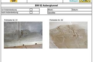 """<div class=""""bildunterschrift_en""""><span class=""""zahl_bildunterschrift"""">9</span>Protocol of condition: photographic recording of defects</div>"""