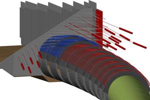 """<div class=""""bildunterschrift_en""""><span class=""""zahl_bildunterschrift"""">2</span>3D model of pipe roof umbrella drive and situation at the portal wall</div>"""