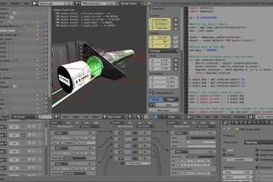 """<div class=""""bildunterschrift_en""""><span class=""""zahl_bildunterschrift"""">8</span>Software interface of Blender Game Engine</div>"""
