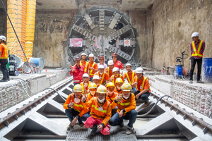 Metro Bangkok, Orange Line: The Westbound tunnel breakthrough on Contract E3 took place a full month ahead of schedule
