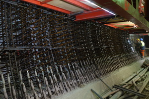 12Reinforcement in the sidewall, example Feuerbach Tunnel