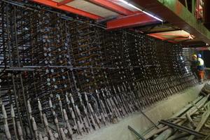 Bewehrung in der Ulme, Beispiel Tunnel Feuerbach