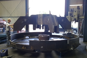 Construction of a 3600 mm cutting wheel in the production halls of Mika GmbH<br />