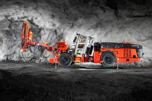 The Sandvik DS512i rock bolter for 5m x 5m size headings offers high levels of safety and efficiency for all rock reinforcement operations