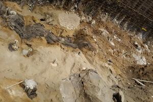Komplexe glaziale Geologie an der Ortsbrust