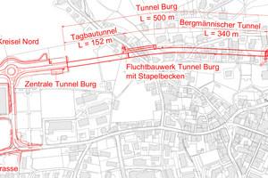 Situation Südumfahrung Küssnacht, Abschnitt Ebnet–Räbmatt