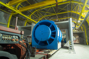"""<irspacing style=""""letter-spacing: -0.02em;"""">With fans with an external diameter of 3.5 m, the tunnel ventilation system of the Gotthard Base Tunnel is the most powerful in the world. The image below was taken during the installation of a fan</irspacing>"""