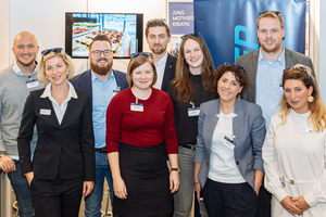 STUVA-YEP is the youth organisation of the STUVA – the photo shows the Steering Committee der Young Engineering Professionals during the 2019 STUVA Conference in Frankfurt