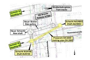 1 | Plan view, area of 'Nordbahnhof' street