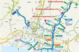 "<span class=""zahl_bildunterschrift"">1   </span>Japan's Hiroshima Expressway Line 5 is designed to improve access between Hiroshima Station and the national Sanyo Expressway via Hiroshima Expressway Line 1"