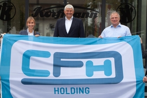 The CFH Group has increased its stake in Korfmann Lufttechnik GmbH to 100%. From left to right: Michael Brenneke (Korfmann), Corinna Both-Kreiser (CFH), Reinhold Both (CFH), Knut Jansen (CFT), Jens Kegenhoff (Korfmann)