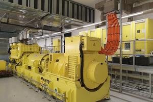 Herzstück der Ersatznetzversorgung im Ceneri-Basistunnel ist die Master-Slave-Schaltung. Unterbrechungslos schaltet sie sich beim Ausfall einer der vier USV-Anlagen (Bild) ein und aktiviert mindestens zwei der übrigen Anlagen <br />